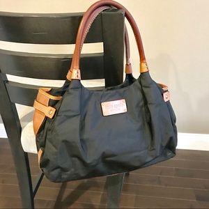 Kate Spade Stevie Black nylon/leather satchel